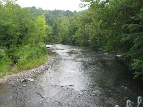 River 3 miles away