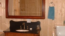 A first level bathroom