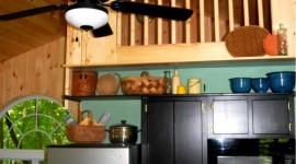 Eco Cabin Kitchen w/ Loft overhead