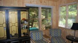 Eco Cabin's Living Area w/Cabin Hutch