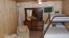 Bunk beds on first level